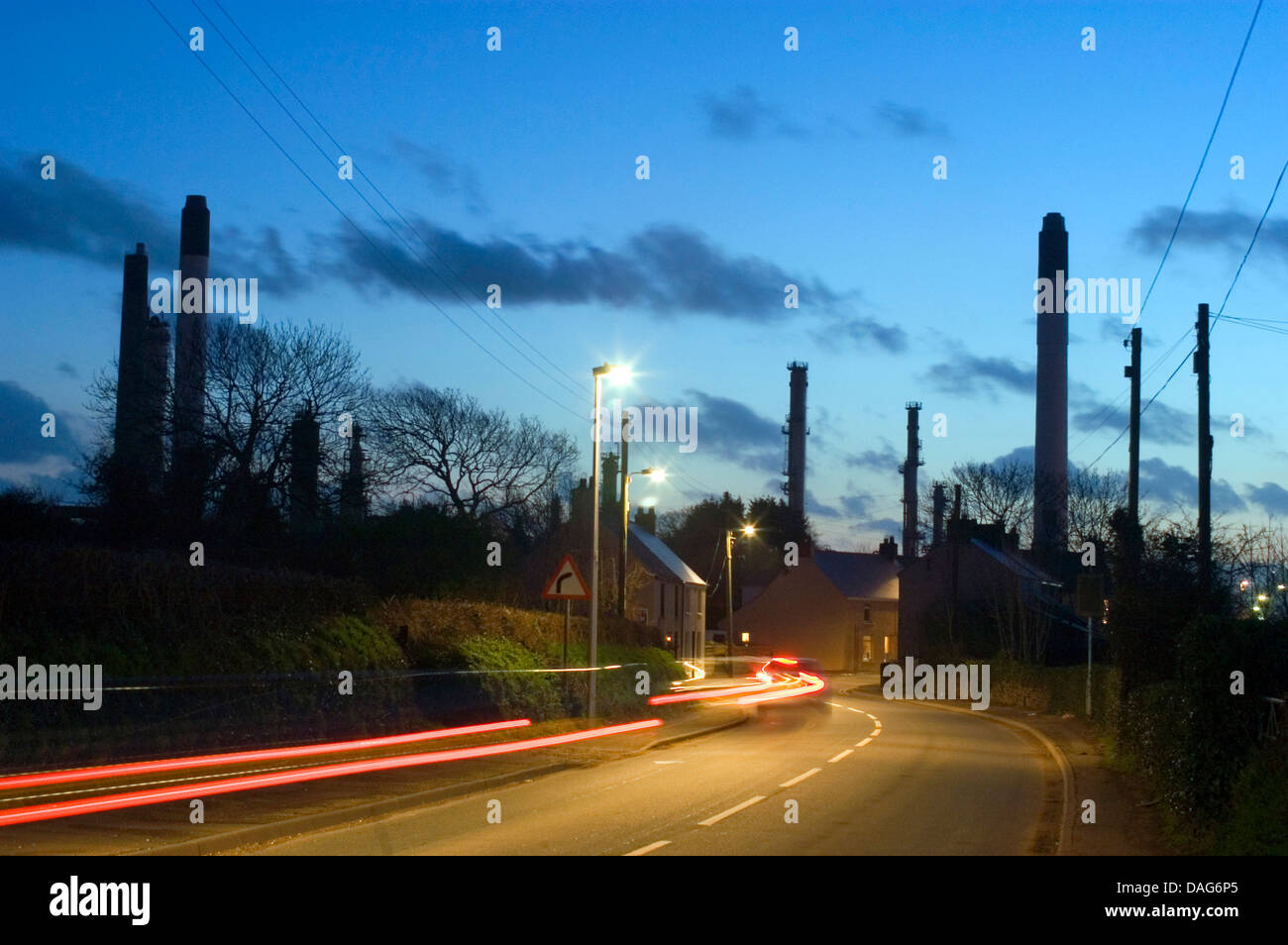 gas terminal in Waterston near Milford Haven, United Kingdom, Wales, Pembrokeshire Stock Photo