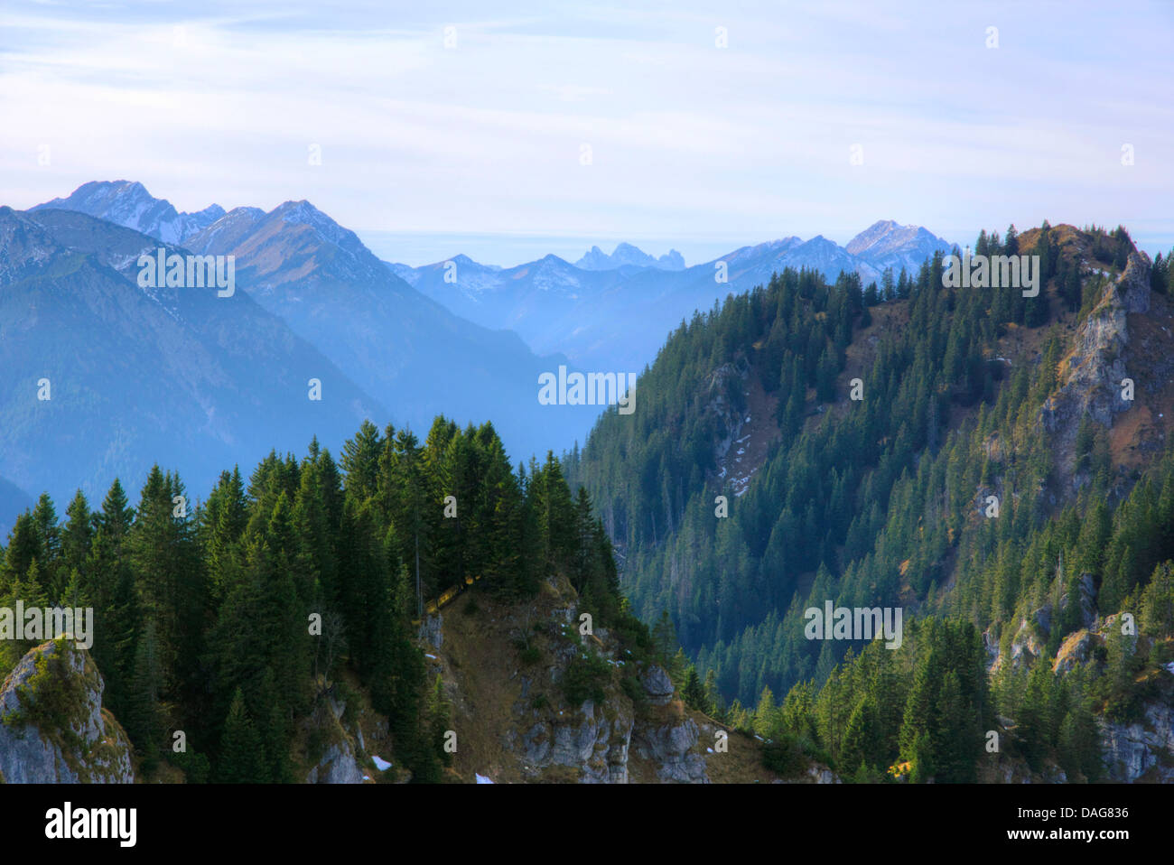ammer mountains, Germany, Bavaria, Oberbayern, Upper Bavaria - Stock Image