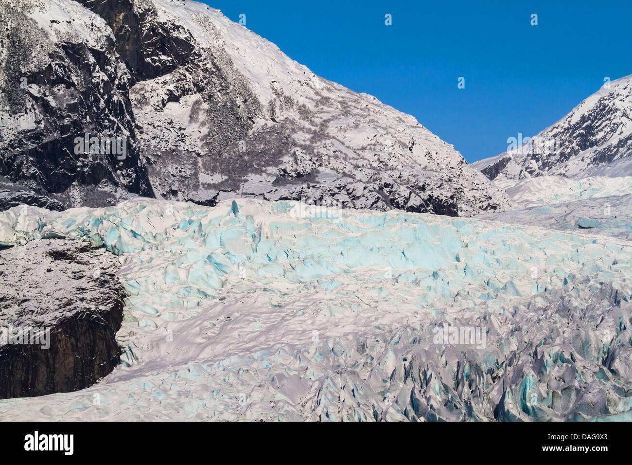 Mendenhall glacier, USA, Alaska, Juneau - Stock Image