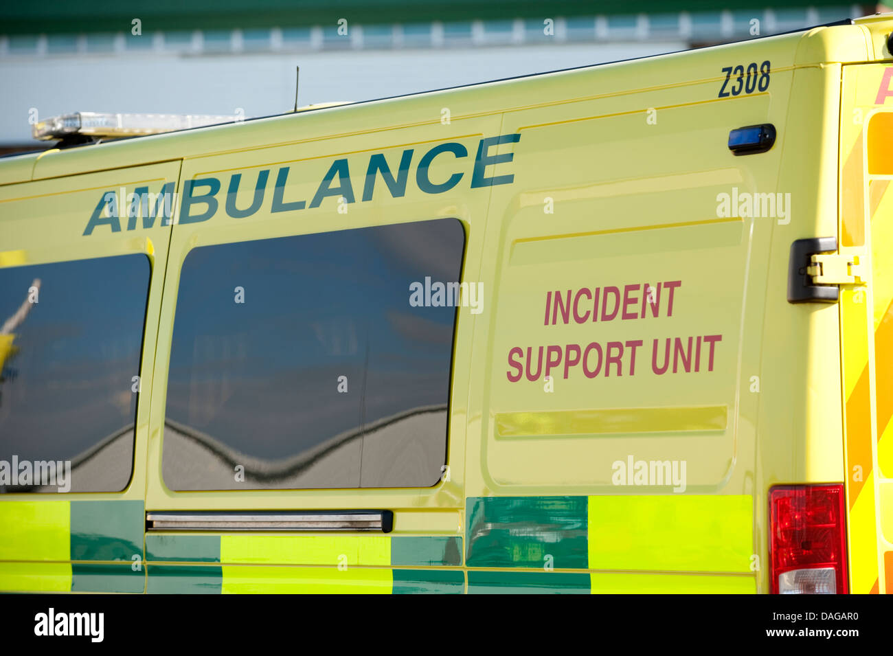 Ambulance Paramedic Incident Support Unit - Stock Image