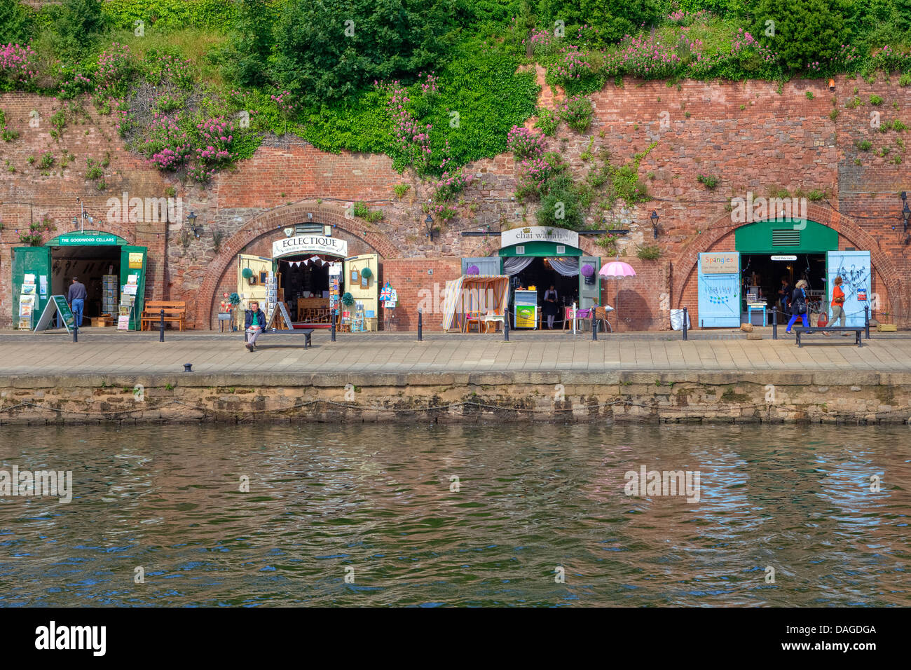 Exeter Quayside, Devon, England, United Kingdom - Stock Image