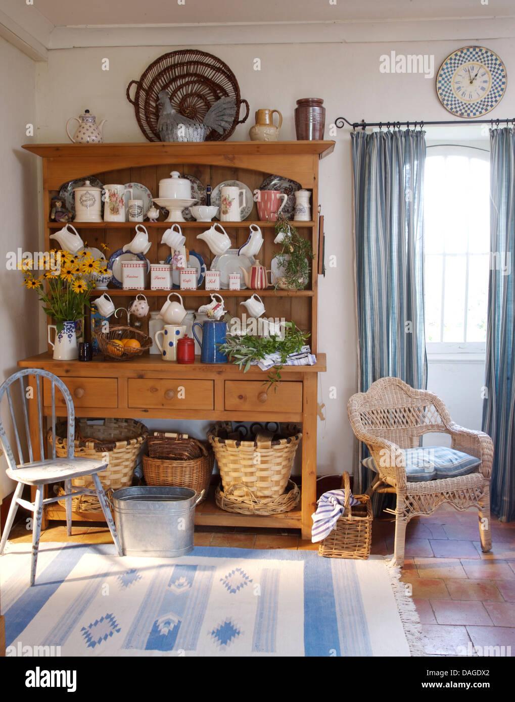 French Country Kitchen Dresser kitchen dresser stock photos & kitchen dresser stock images - alamy