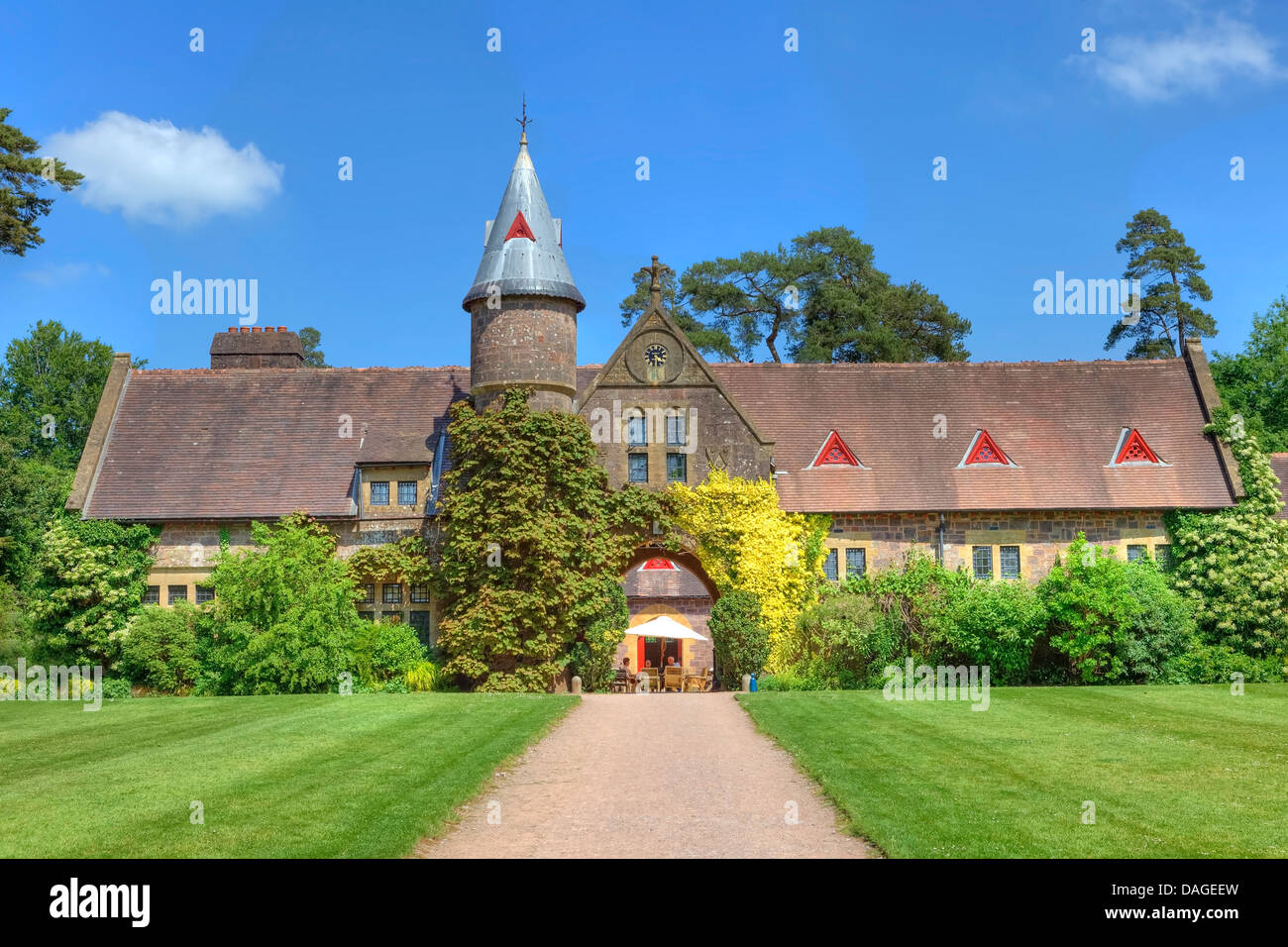 Knightshayes Court, stables, Tiverton, Devon, England, Grossbritannien - Stock Image