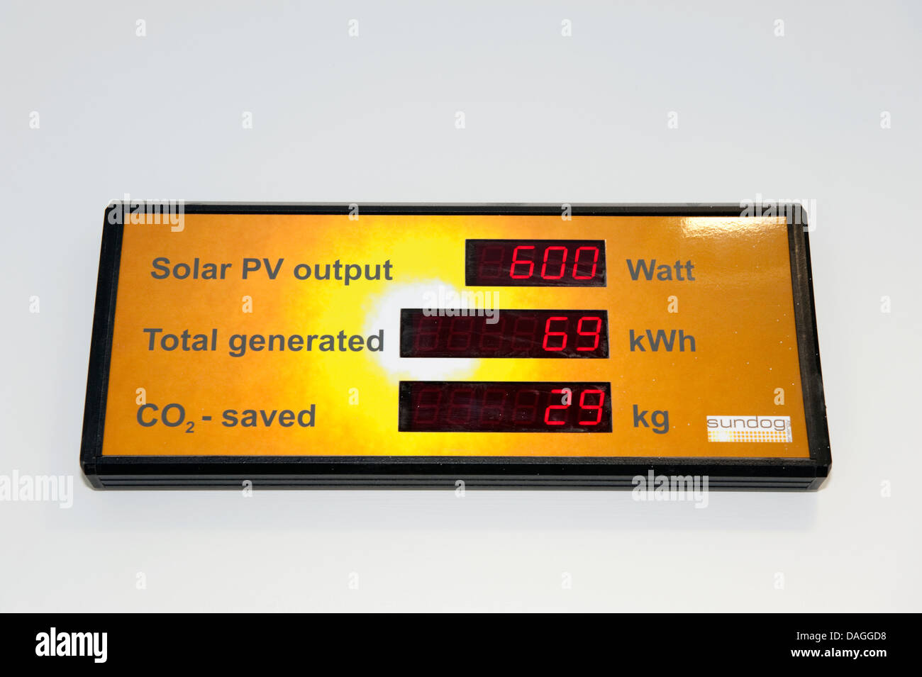 Industrial Factory Solar Panel output display - Stock Image