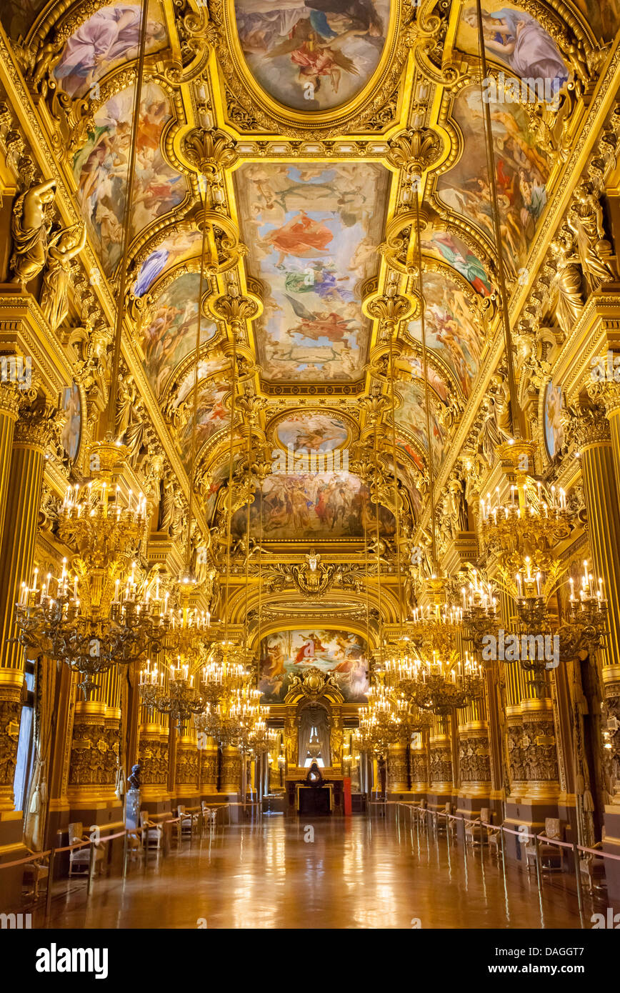 The Grand Foyer of Palais Garnier - Opera House, Paris France - Stock Image