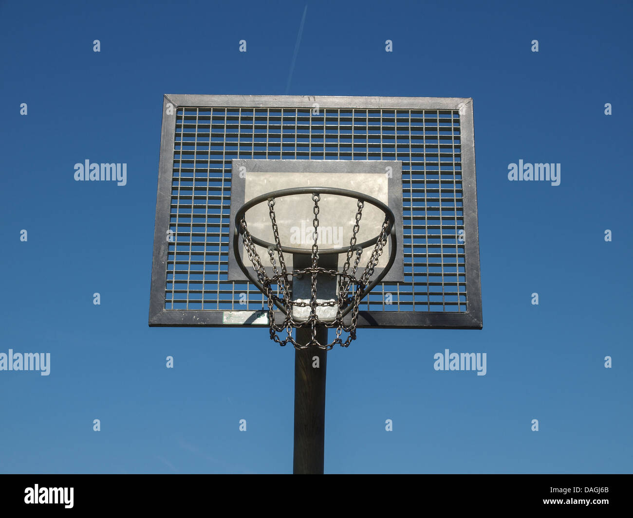 Basket used in playgrounds for basketball game sport Stock Photo