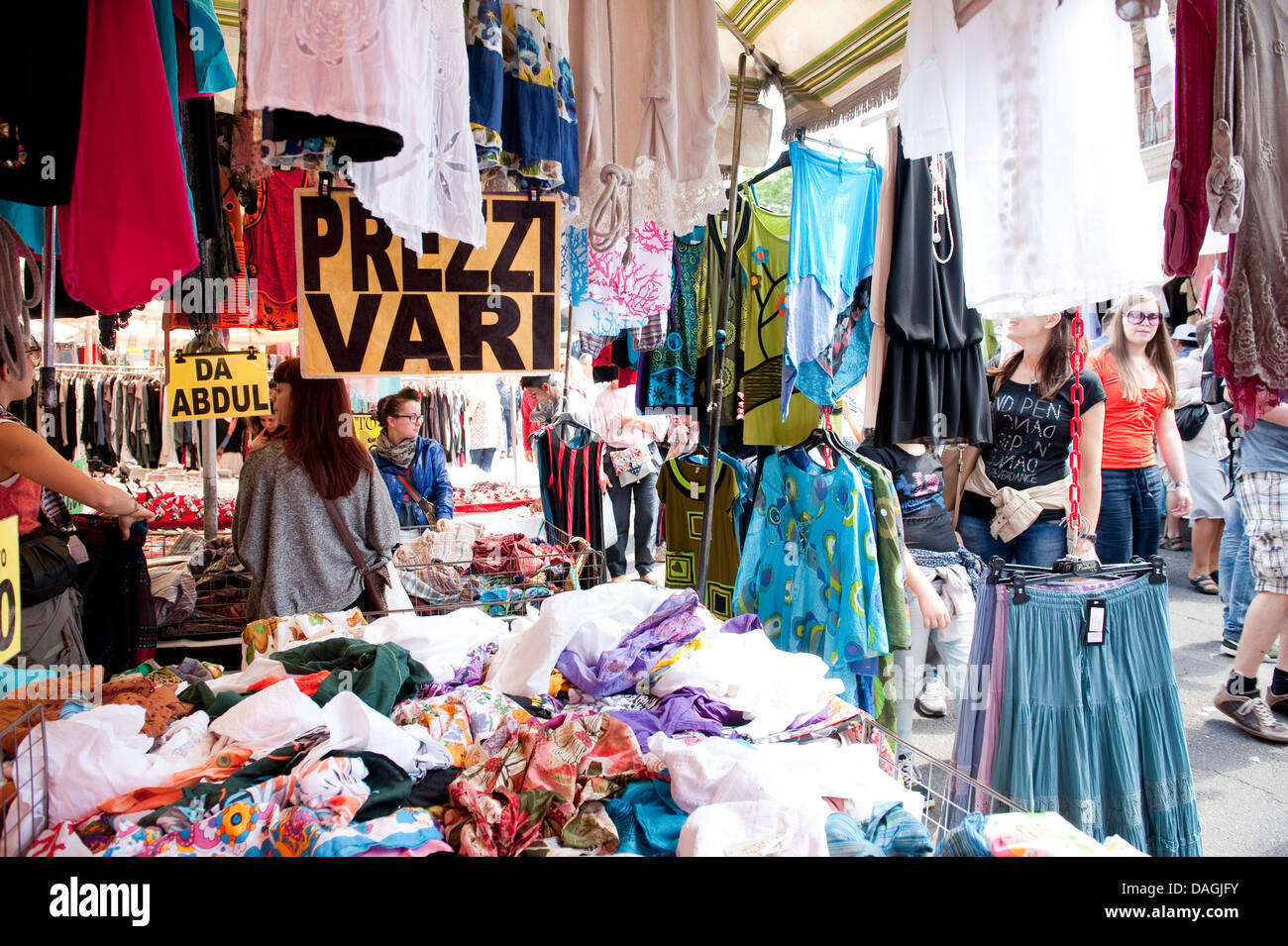 Shopping at the porta portese markets in the trastevere - Porta portese trastevere ...