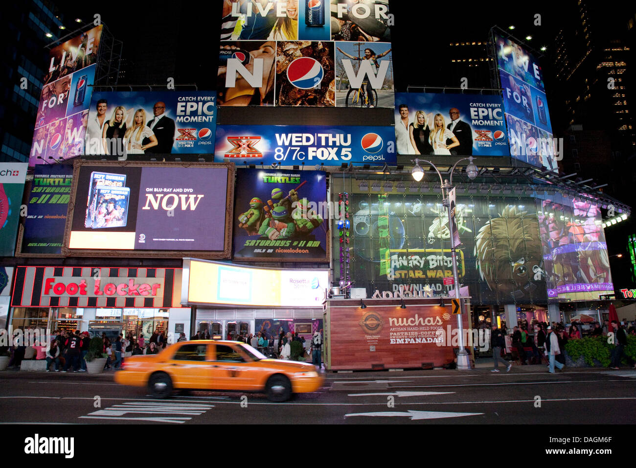 colourful luminous advertising at Times Square, USA, New York (state), Times Square, New York City - Stock Image