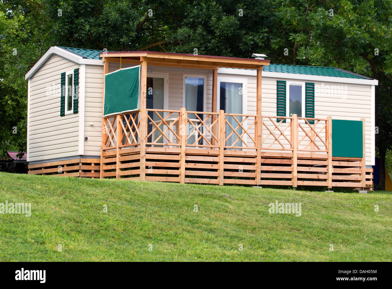 Small Camping Cabin In The Camp Stock Photo 58151008 Alamy