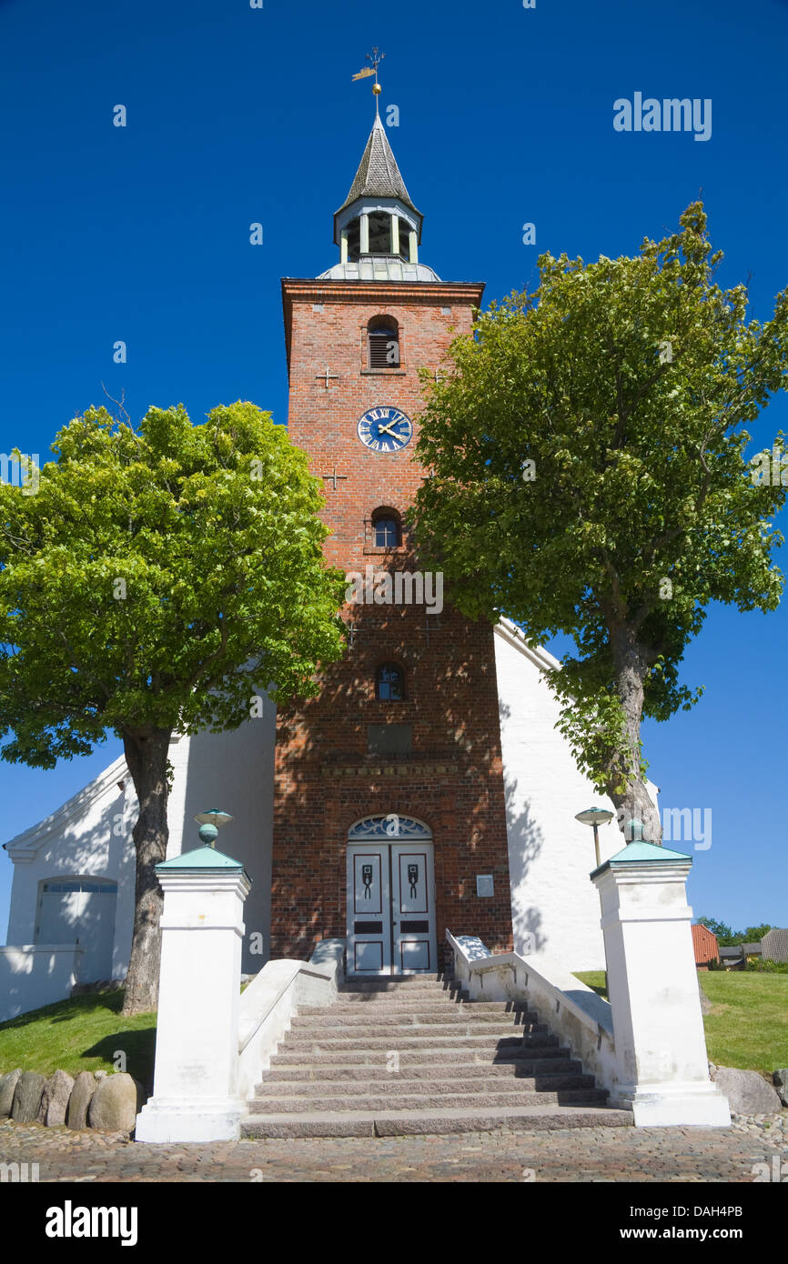 Ebeltoft Denmark EU Church on Grønningen impressive building divided into five vaulted sections in Denmarks best Stock Photo