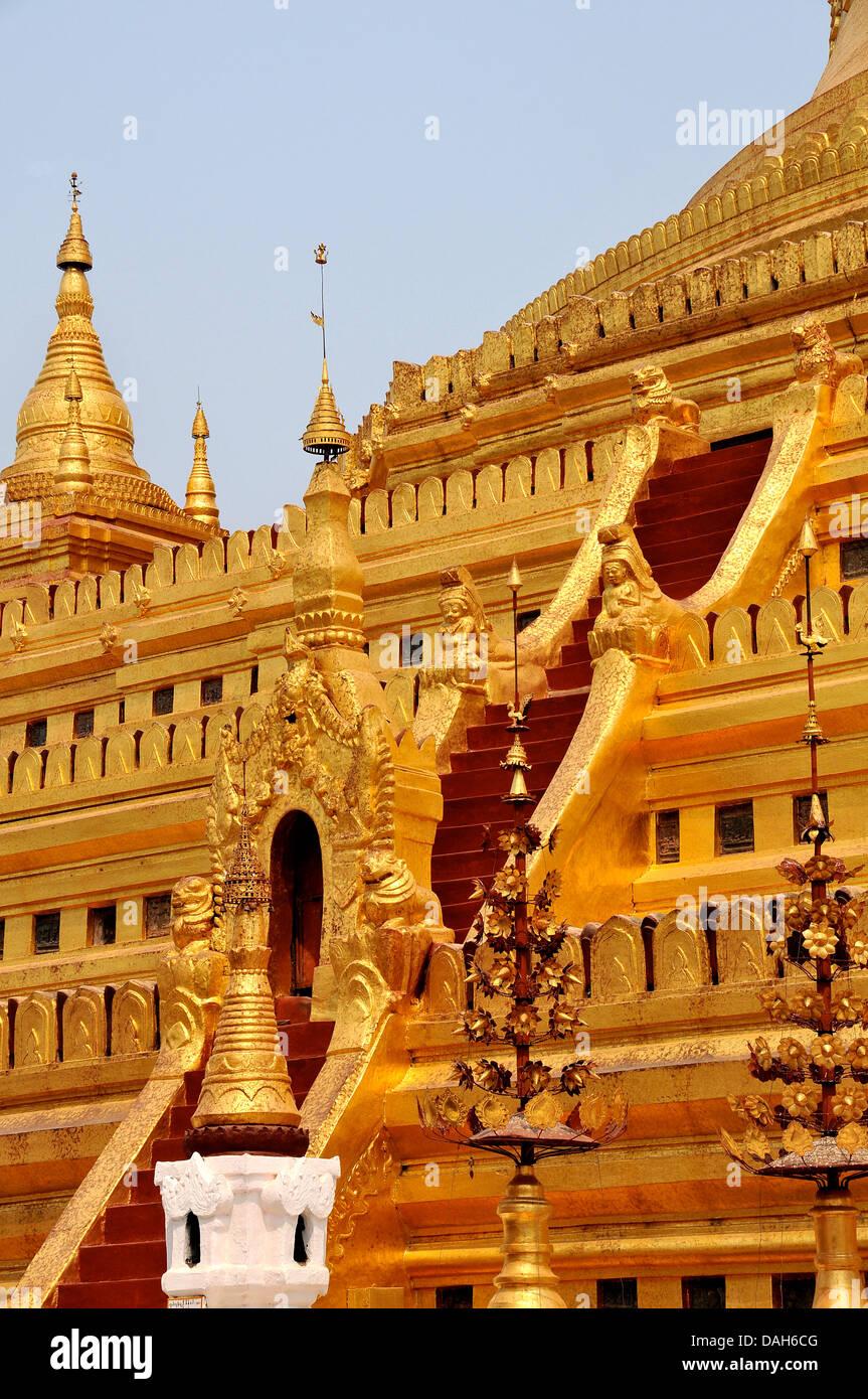 Shwezigon temple Bagan Myanmar Stock Photo