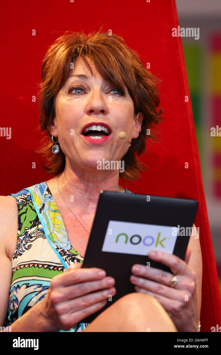 London, UK. 13th July 2013. Author Kathy Lette at the London Evening Standard Get Reading Festival in partnership - Stock Image