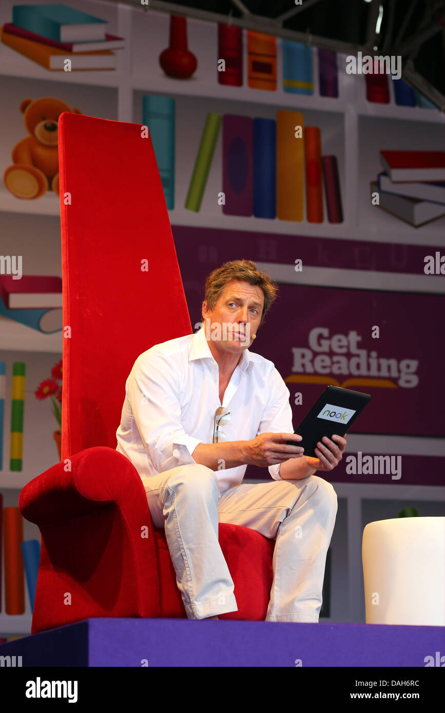 London, UK. 13th July 2013. Actor Hugh Grant at the London Evening Standard Get Reading Festival in partnership - Stock Image