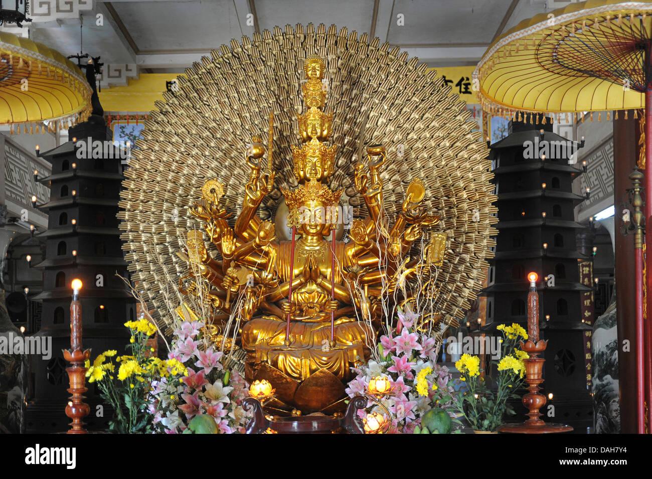 Long Son Pagoda, Nha Trang Vietnam Stock Photo