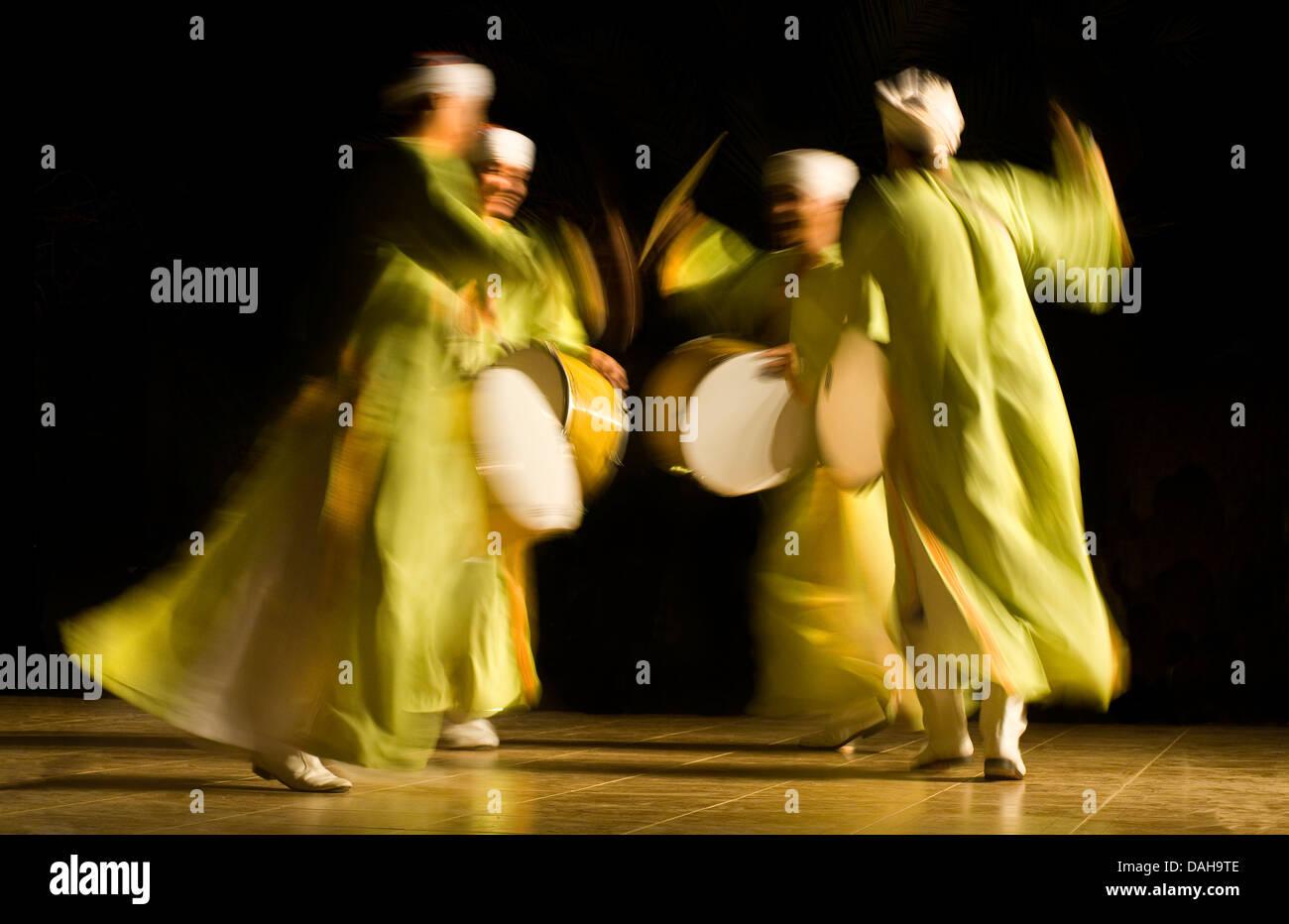 Whirling Egyptian dancer. Red Sea Coast Sinai Egypt - Stock Image