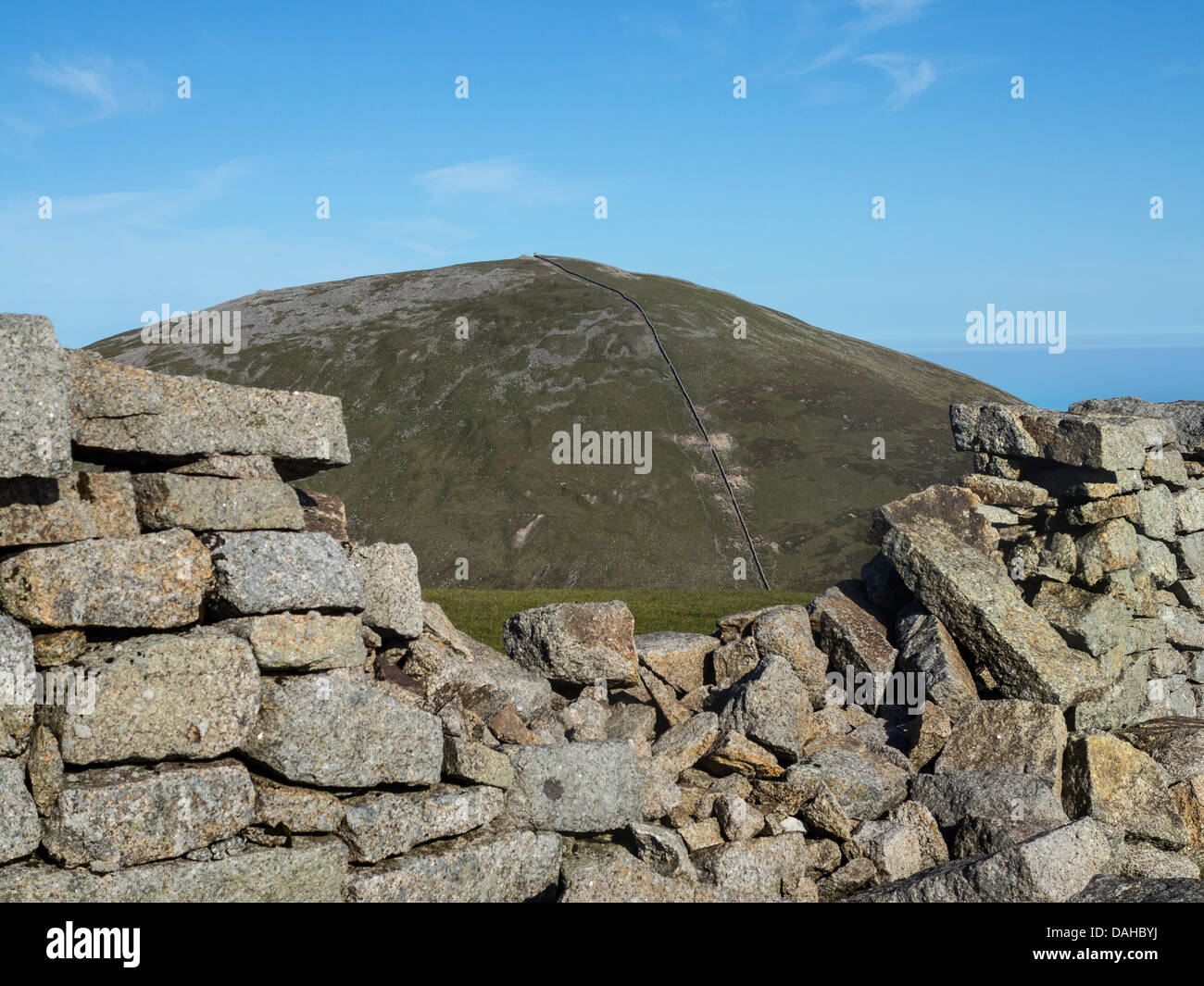slieve Donnard the highest mountain in northern ireland - Stock Image