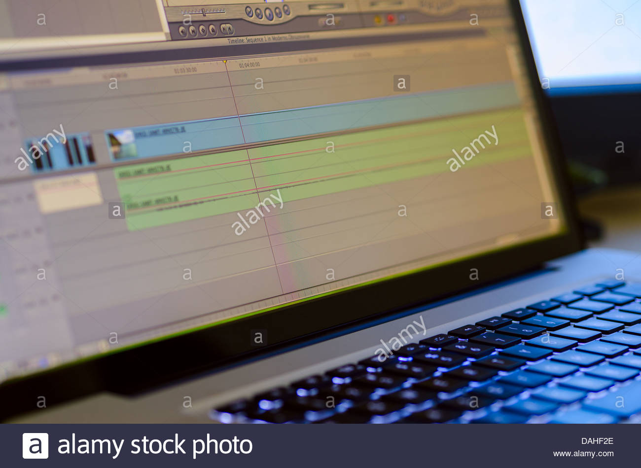 Professional video editing equipment - Stock Image