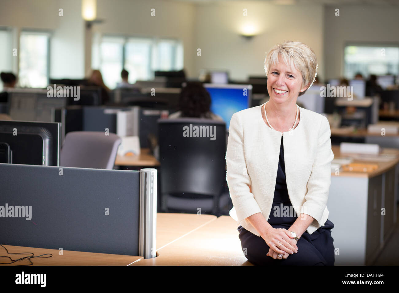 9/4/13 Nicola Hurst , CEO of MyCSP , pictured at MyCSP, City Square, Liverpool. - Stock Image