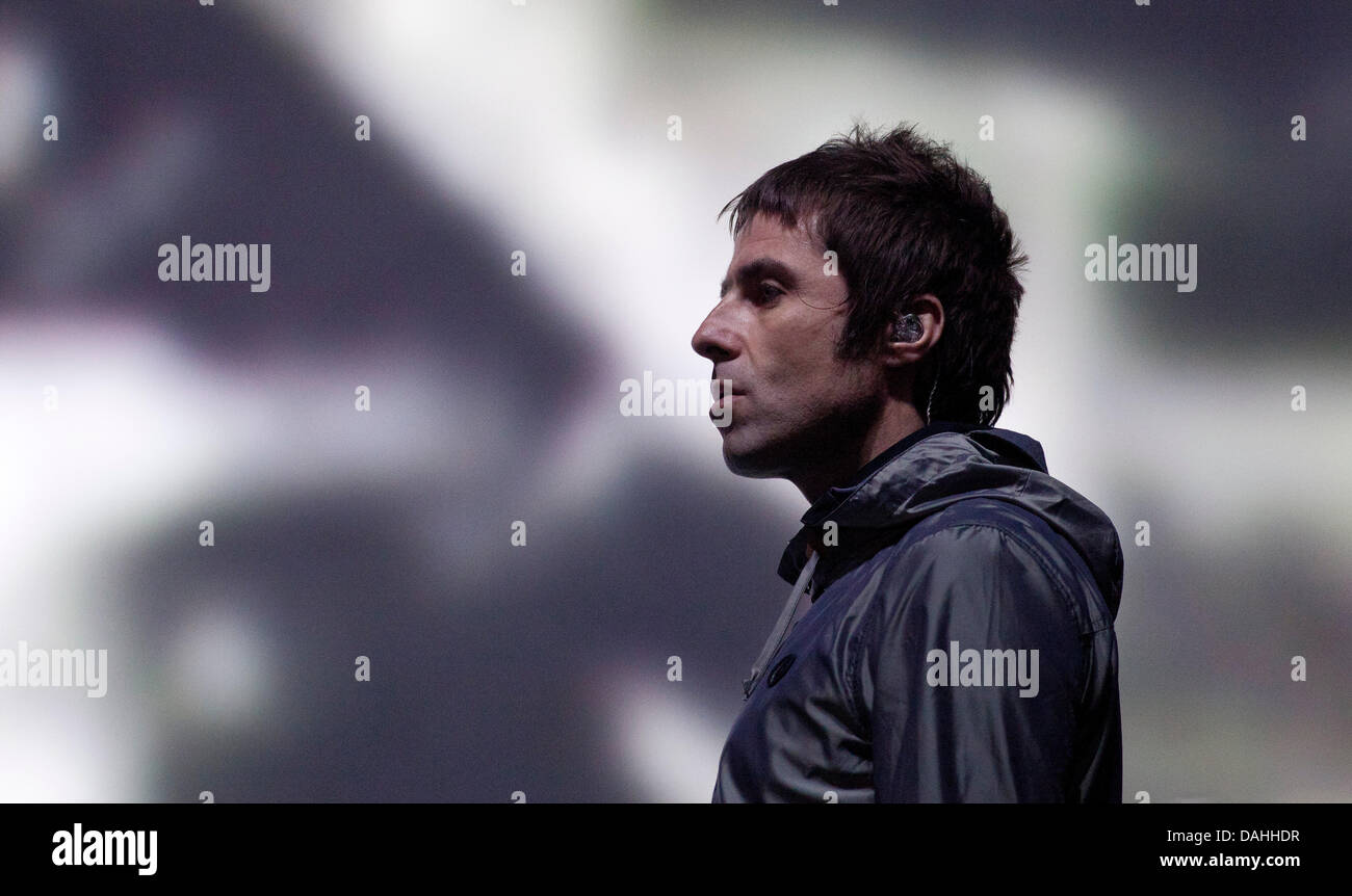 Balado, Kinross, Scotland, UK, Saturday, 13th July, 2013. Liam Gallagher of Beady Eye on the Radio One Stage, T - Stock Image