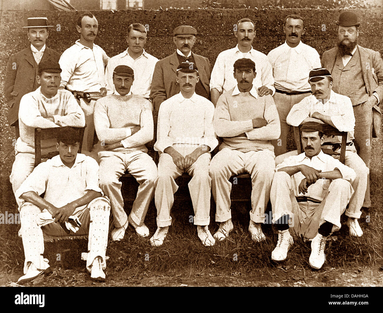 Notts CC Cricket Team in 1895 Stock Photo