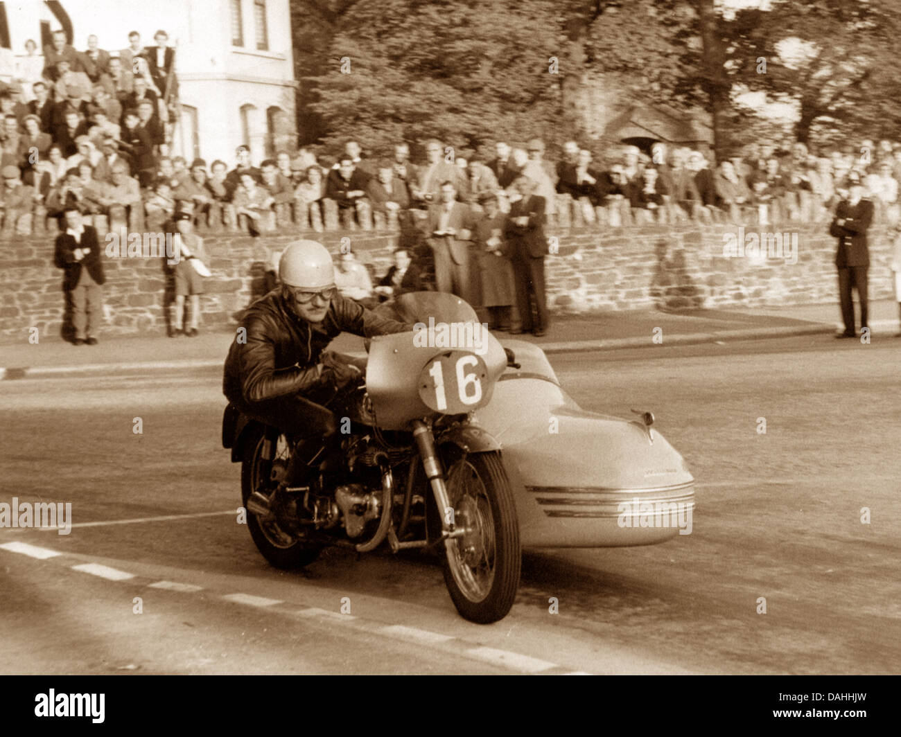 Isle of Man TT possibly 1930s - Stock Image