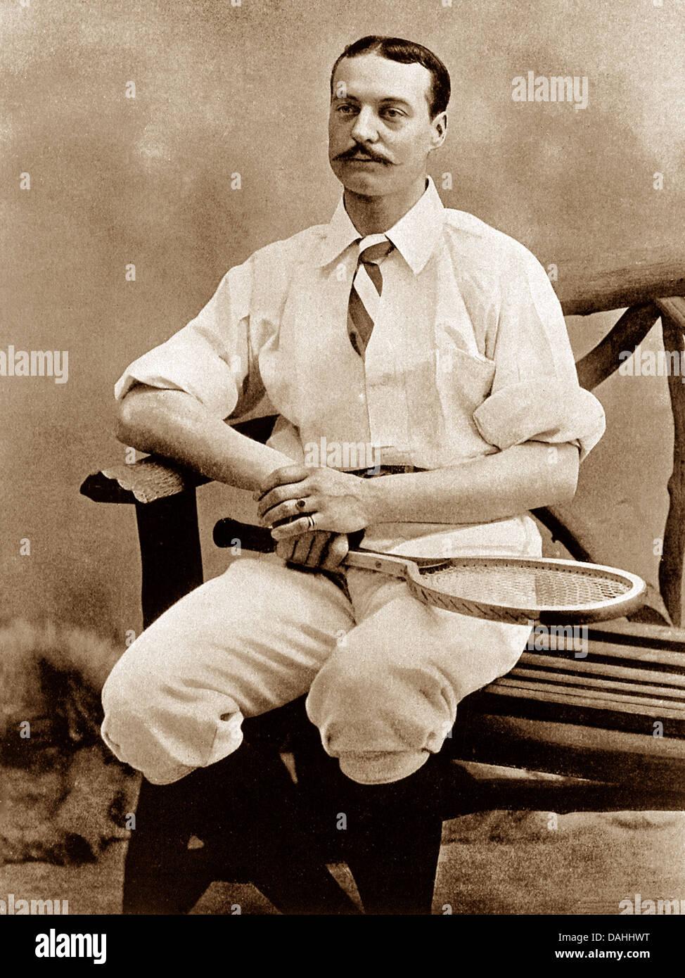 Mr. E W Lewis Tennis Player - Stock Image