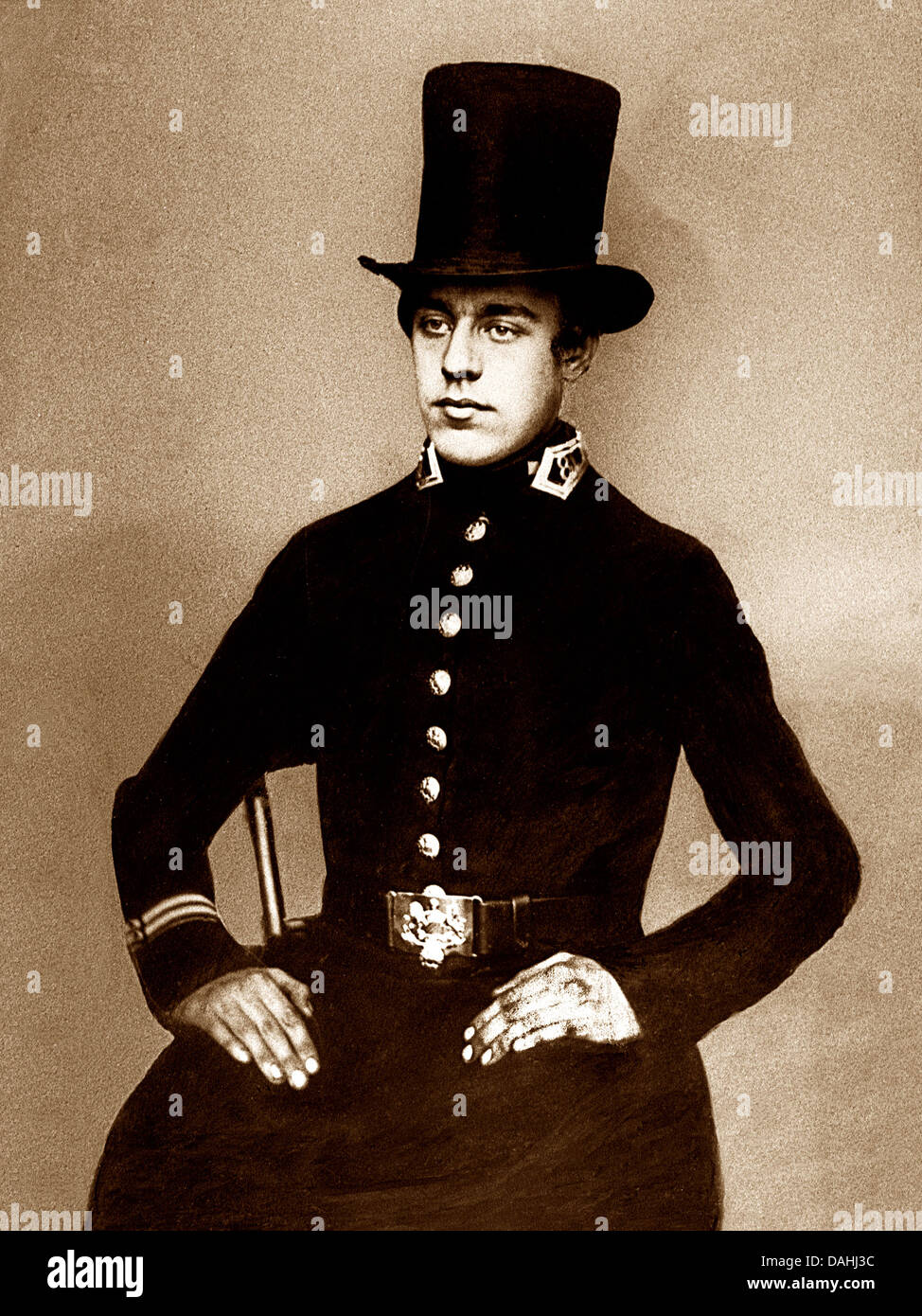 Victorian Policeman - Stock Image