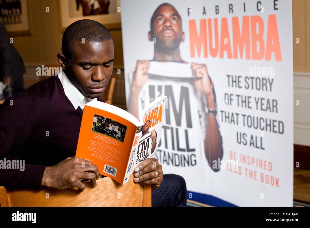 Fabrice Muamba launches his book ' I'm Still Standing ' - Stock Image