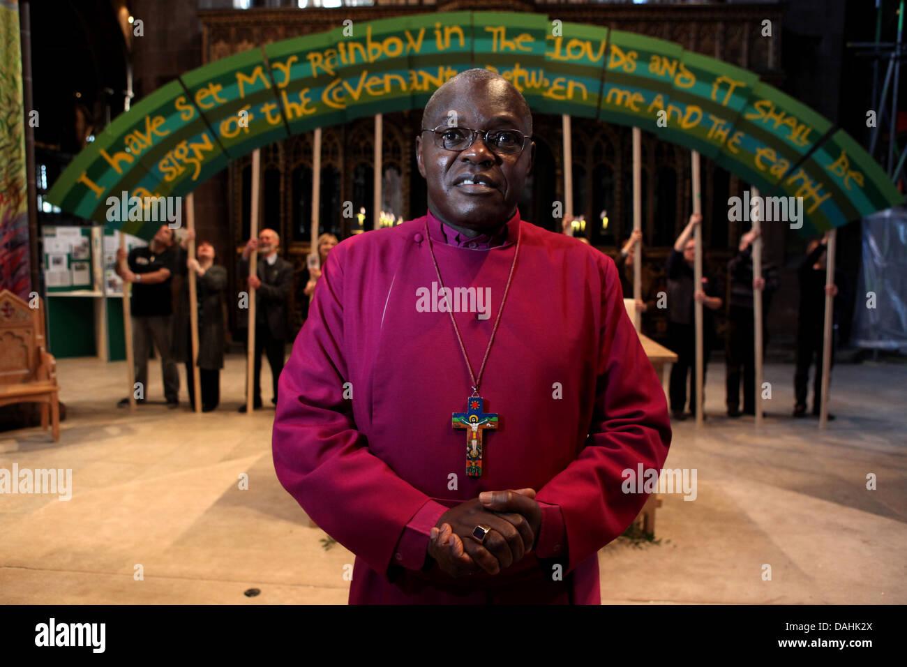 The Archbishop of York , John Sentamu in Manchester cathedral - Stock Image