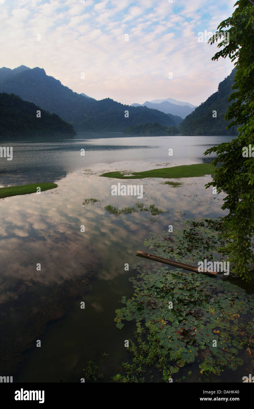 Ba Be lake is the largest natural lake in Vietnam. Nam Mau commune, Bac Kan district, Bac Kan Province. Northeast - Stock Image
