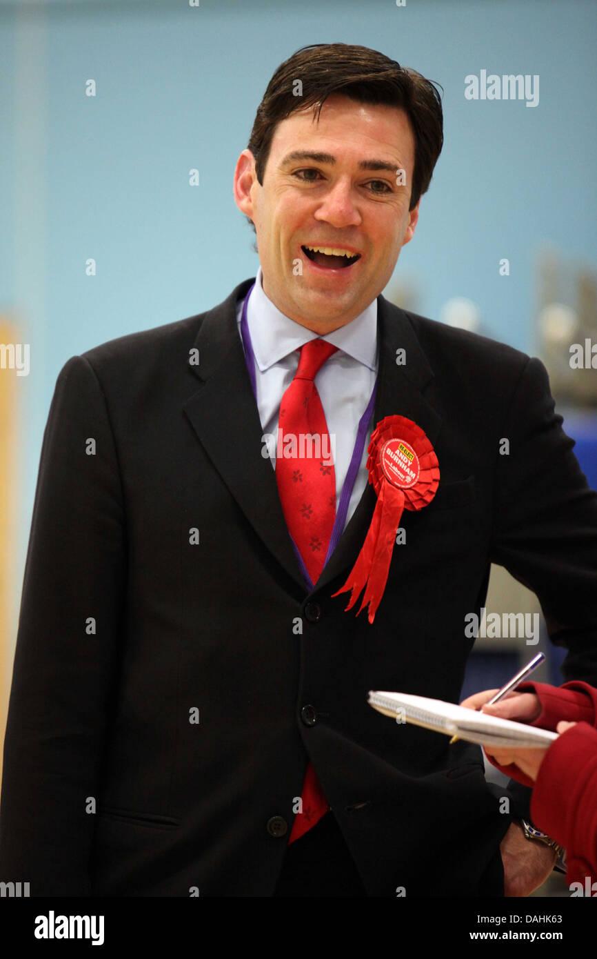 Andy Burnham smiling happy Labour - Stock Image