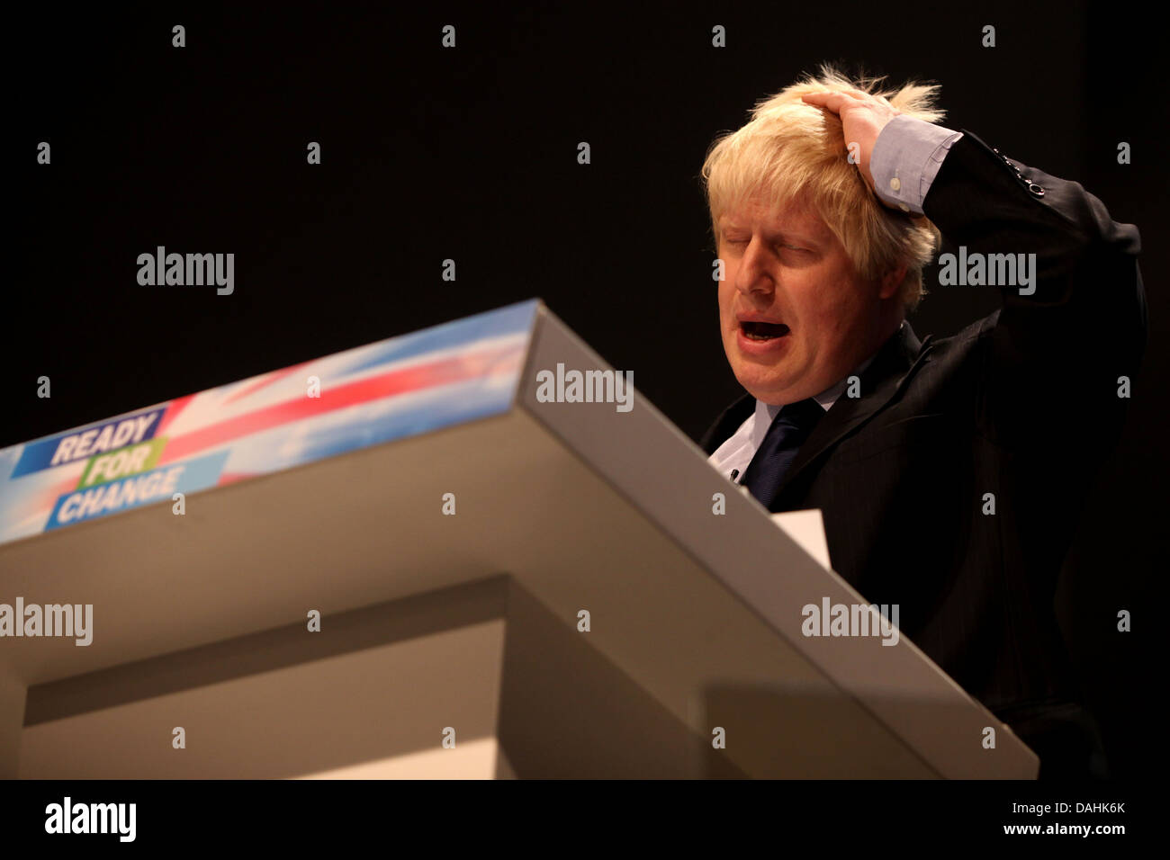 Boris Johnson  at  the 2009 Conservative Conference in Manchester - Stock Image