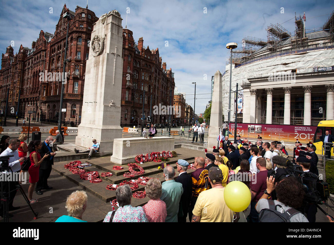 Cenotaph , St Peter's Square , Manchester - Stock Image