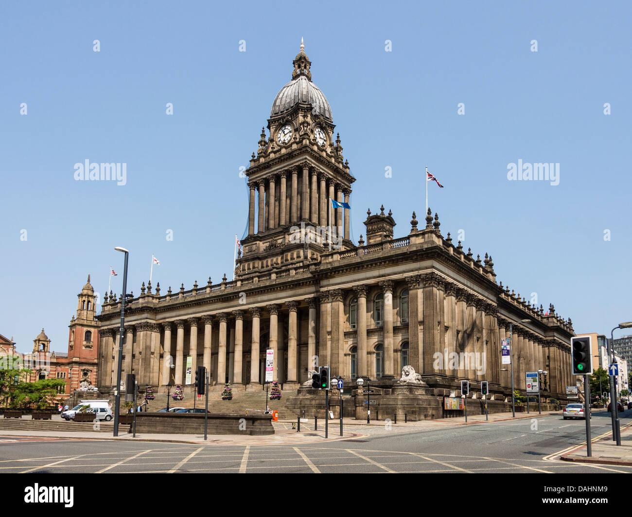 Town Hall Leeds Yorkshire UK - Stock Image