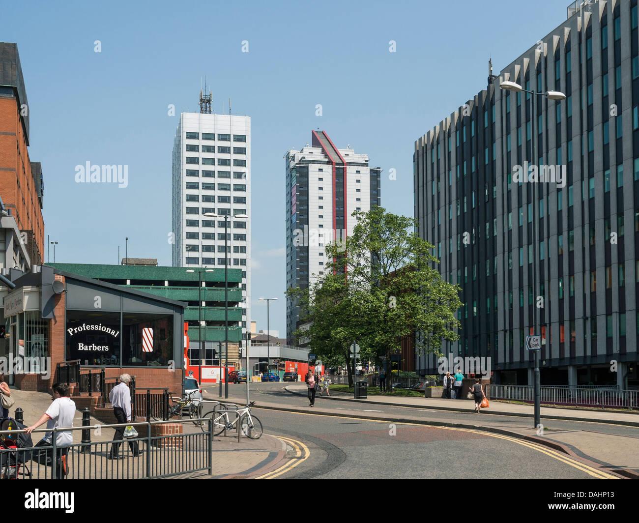 Modern apartment blocks Wade lane Leeds UK - Stock Image