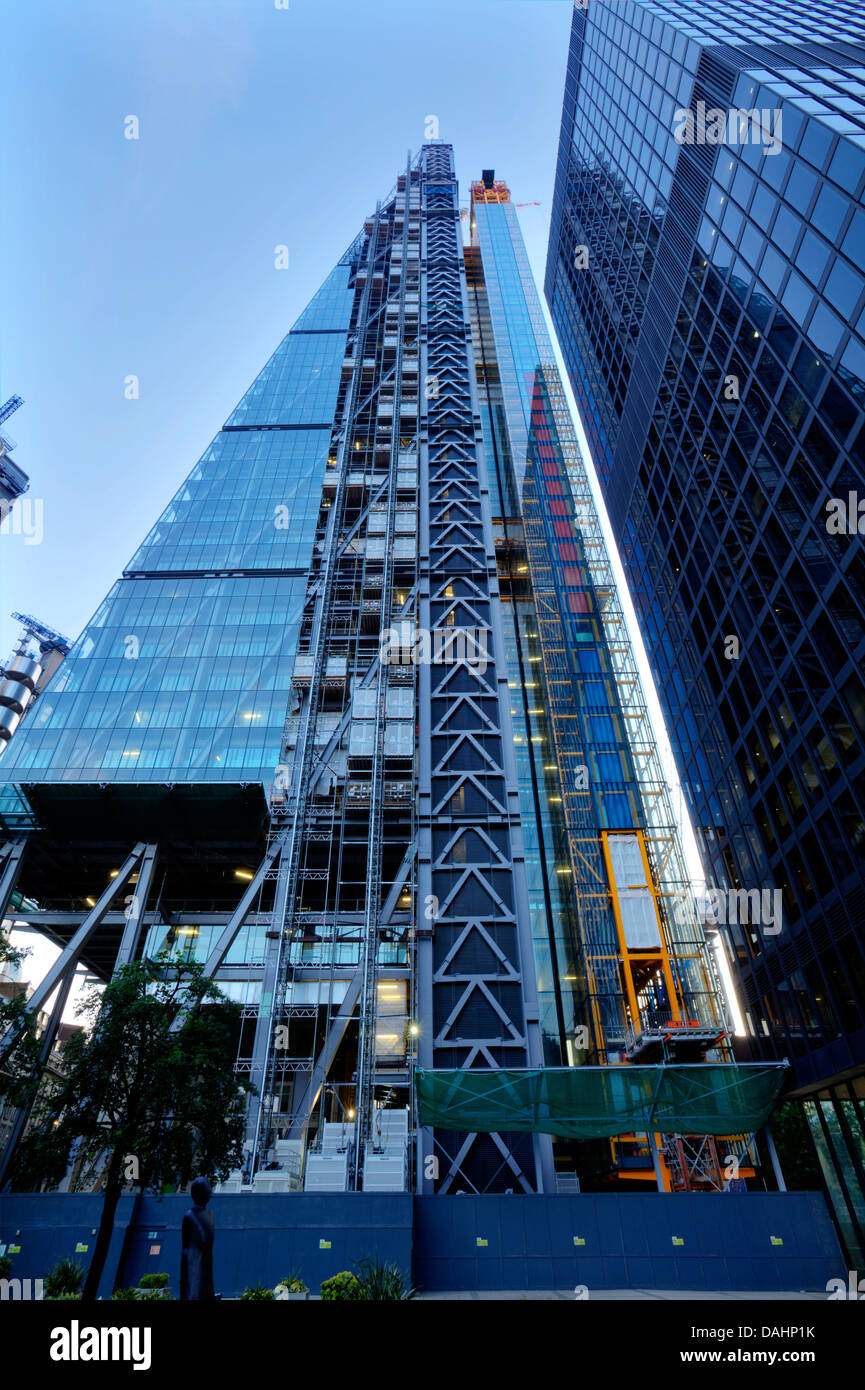 The Leadenhall Building (The Cheese Grater) Under Construction, London, England - Stock Image
