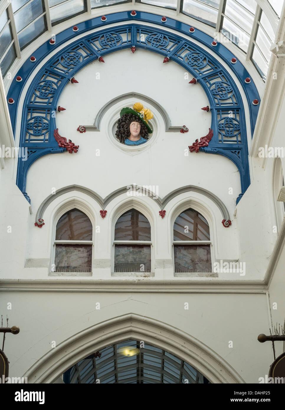 Leeds, UK. Thorntons Arcade detail. - Stock Image
