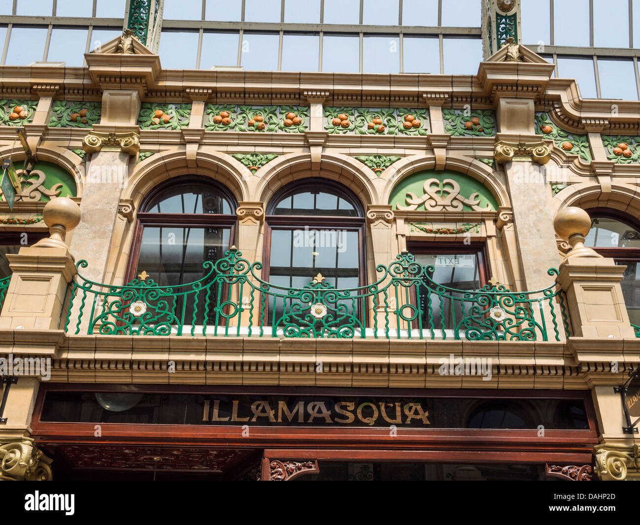 Leeds, UK. Victoria Quarter. County Arcade detail. - Stock Image