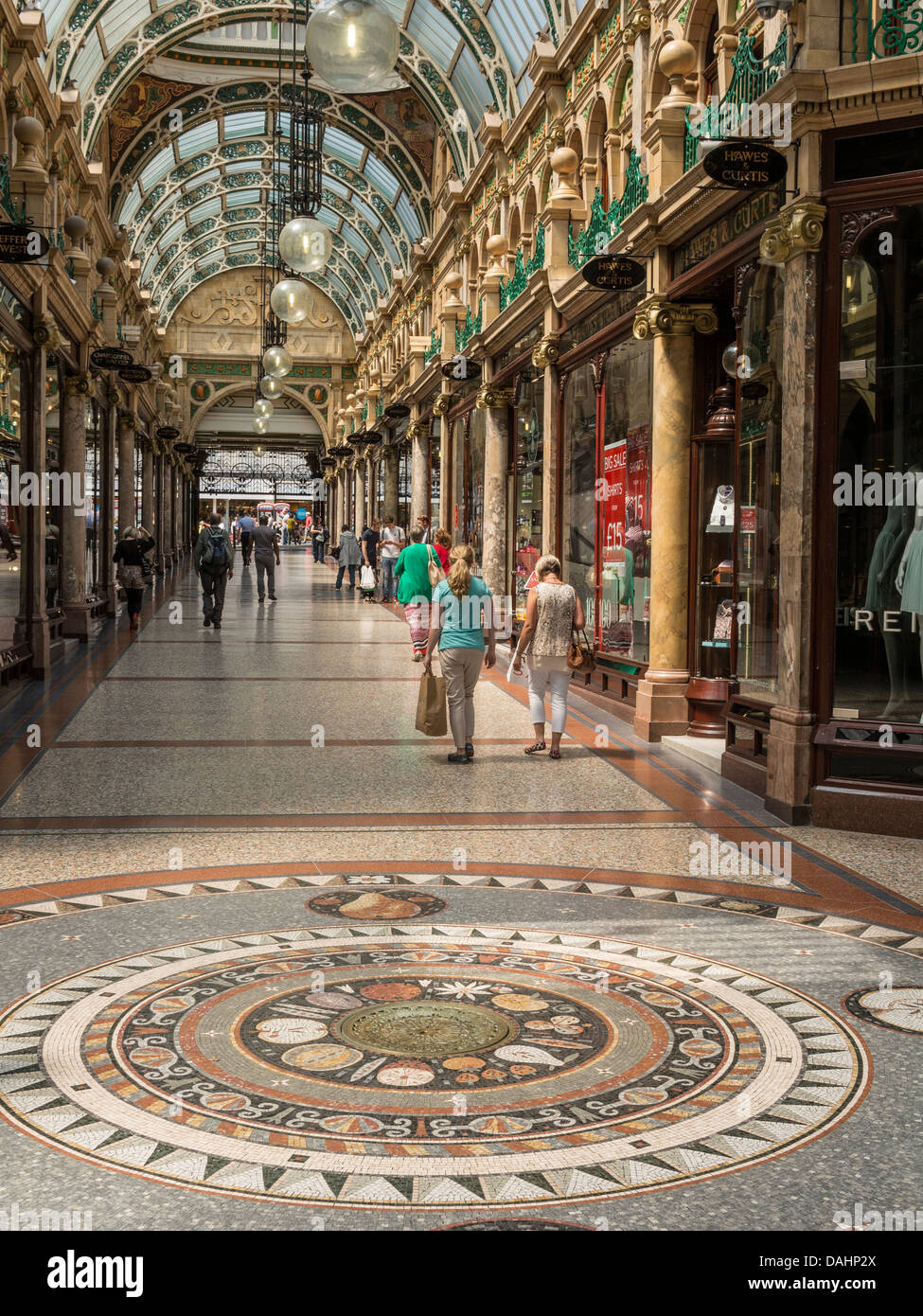 County Arcade in the Victoria Quarter Leeds UK - Stock Image