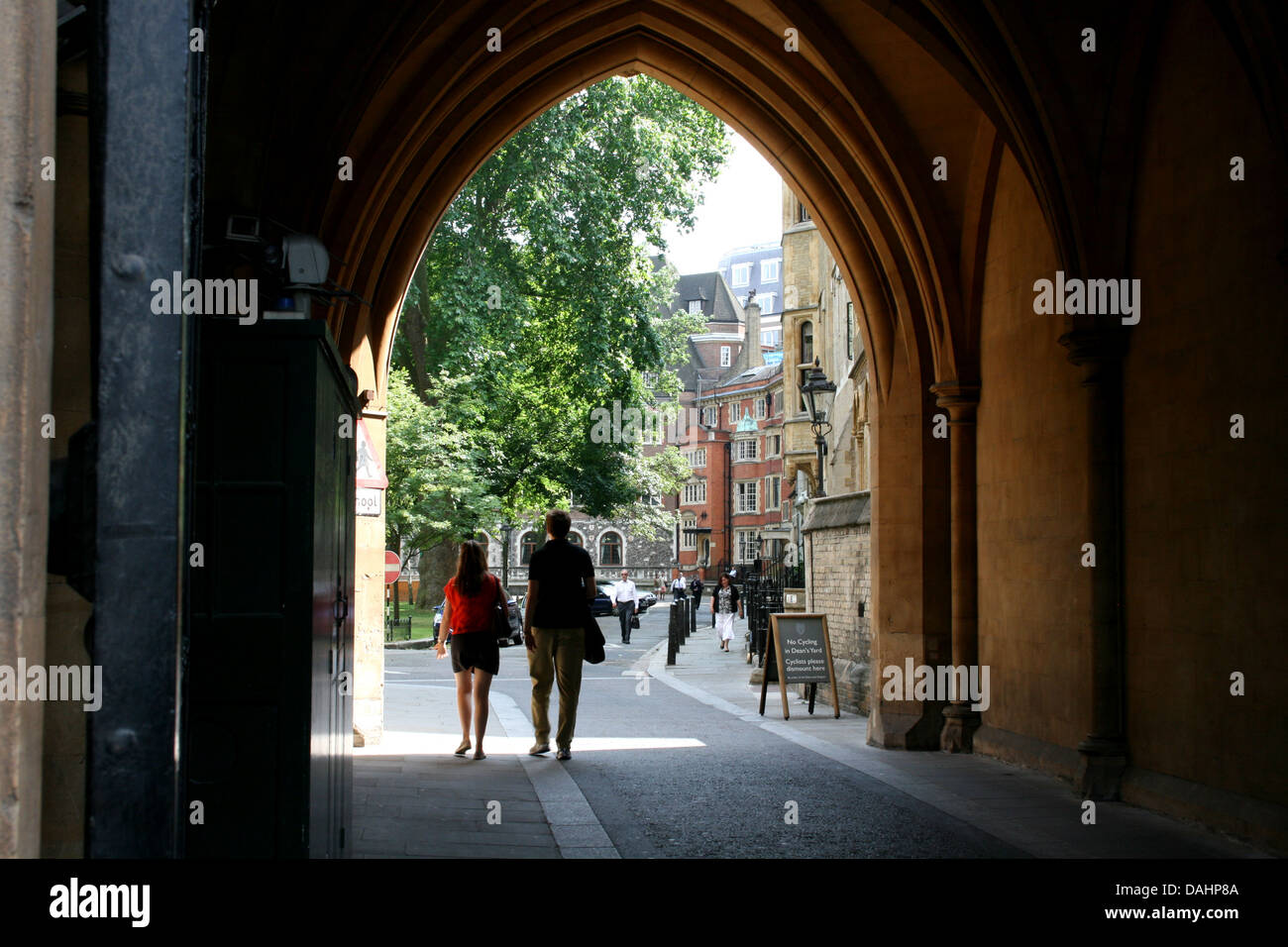 deans yard entrance city of westminster london uk 2013 - Stock Image