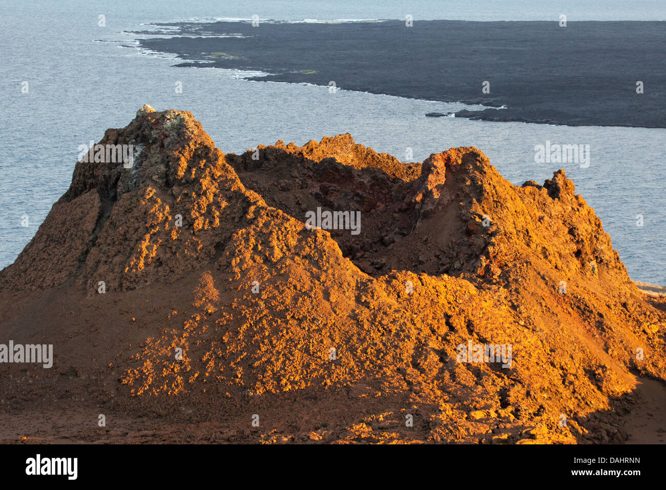 Eroded volcanic spatter cone (parasitic cone) - Stock Image