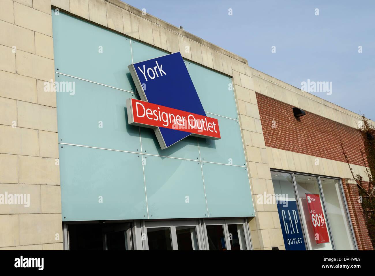 York Designer Outlet entrance York UK - Stock Image