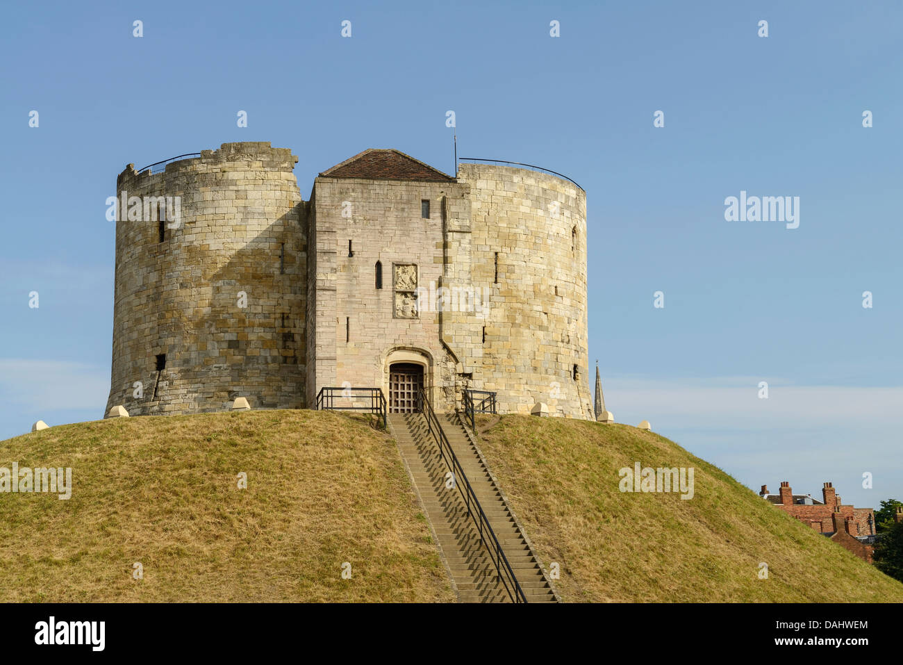Cliffords Tower York city centre UK - Stock Image