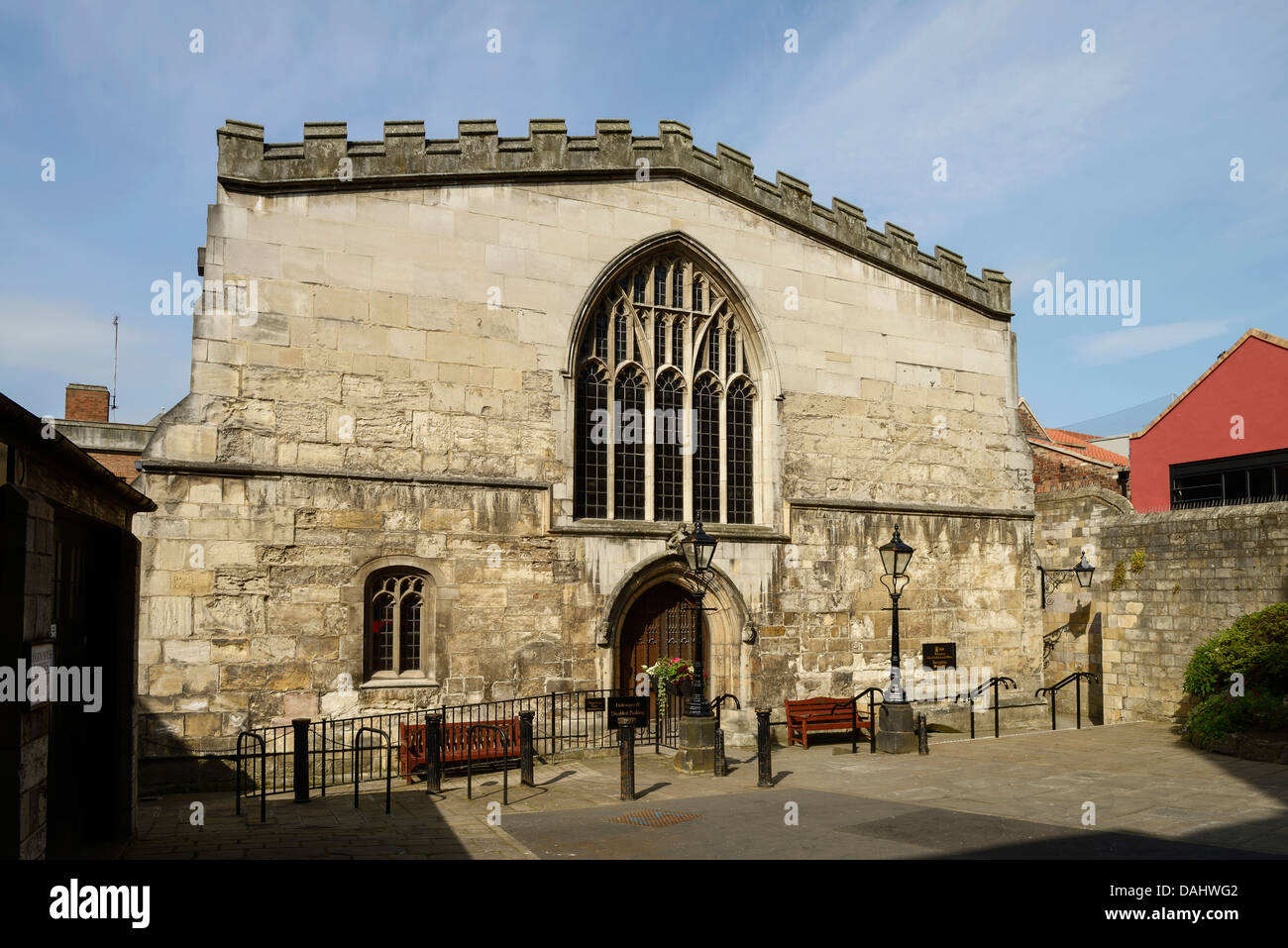 The rear of the Guildhall in York city centre - Stock Image