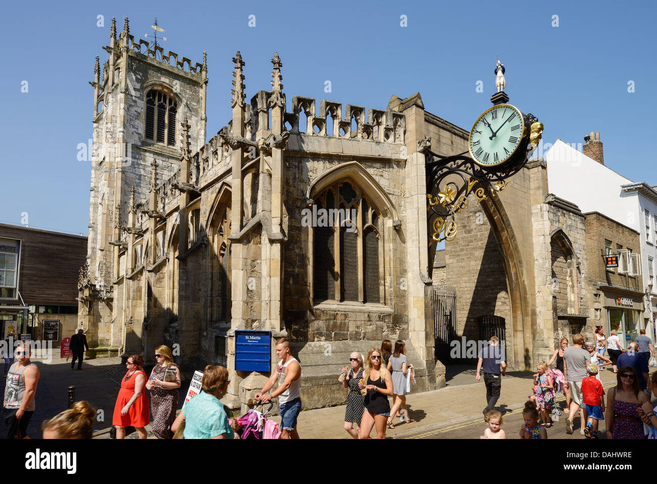 St Martin le Grand church on Coney Street in York city centre UK - Stock Image