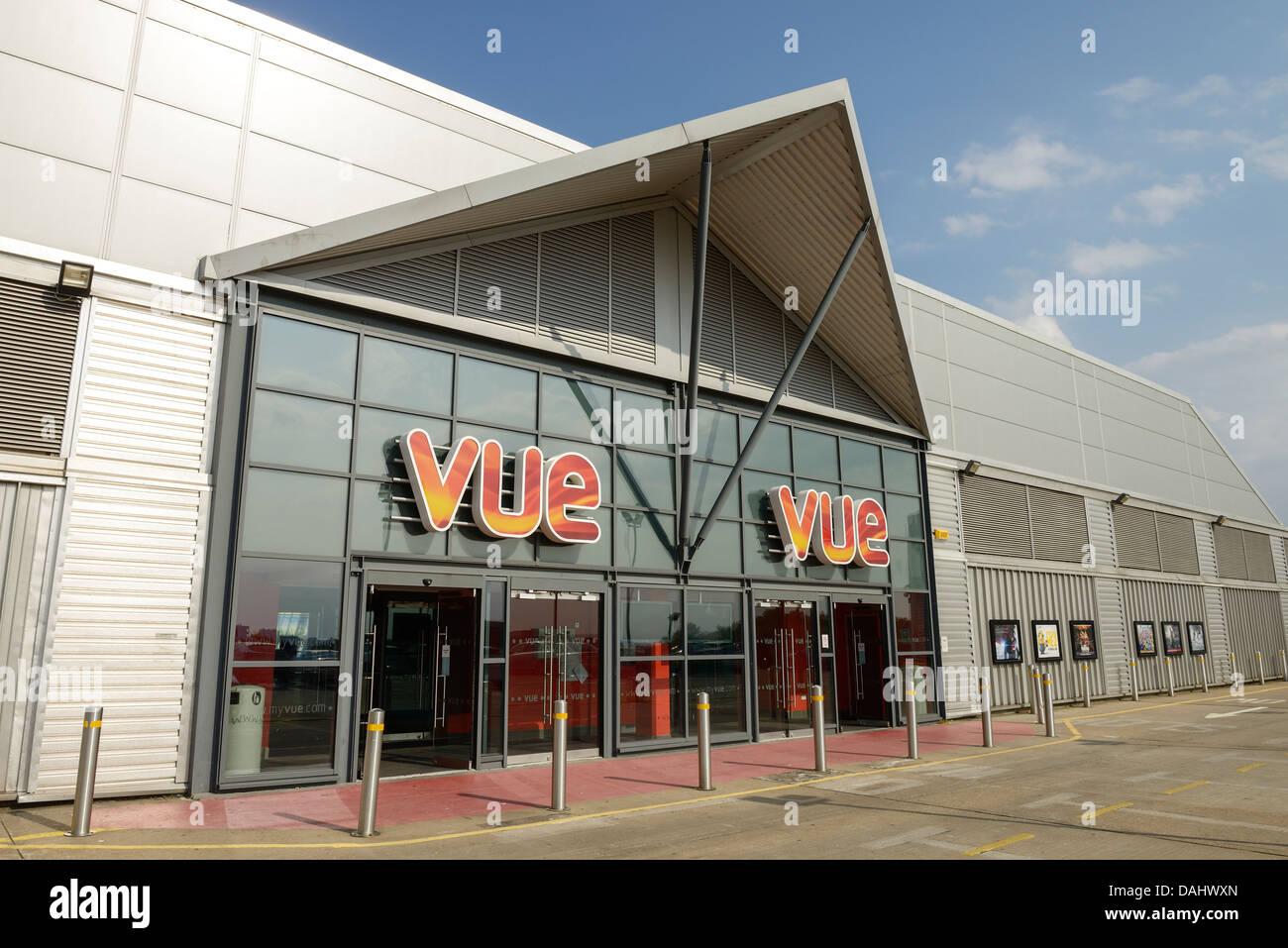 Vue Cinema entrance at Princes Quay Hull UK - Stock Image