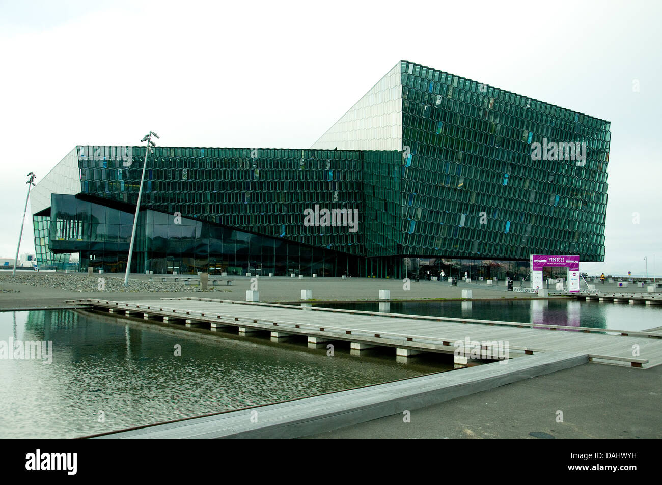 Reykjavik's controversial concert hall, Harpa. won a major E.U. award in 2013 for contemporary architecture - Stock Image
