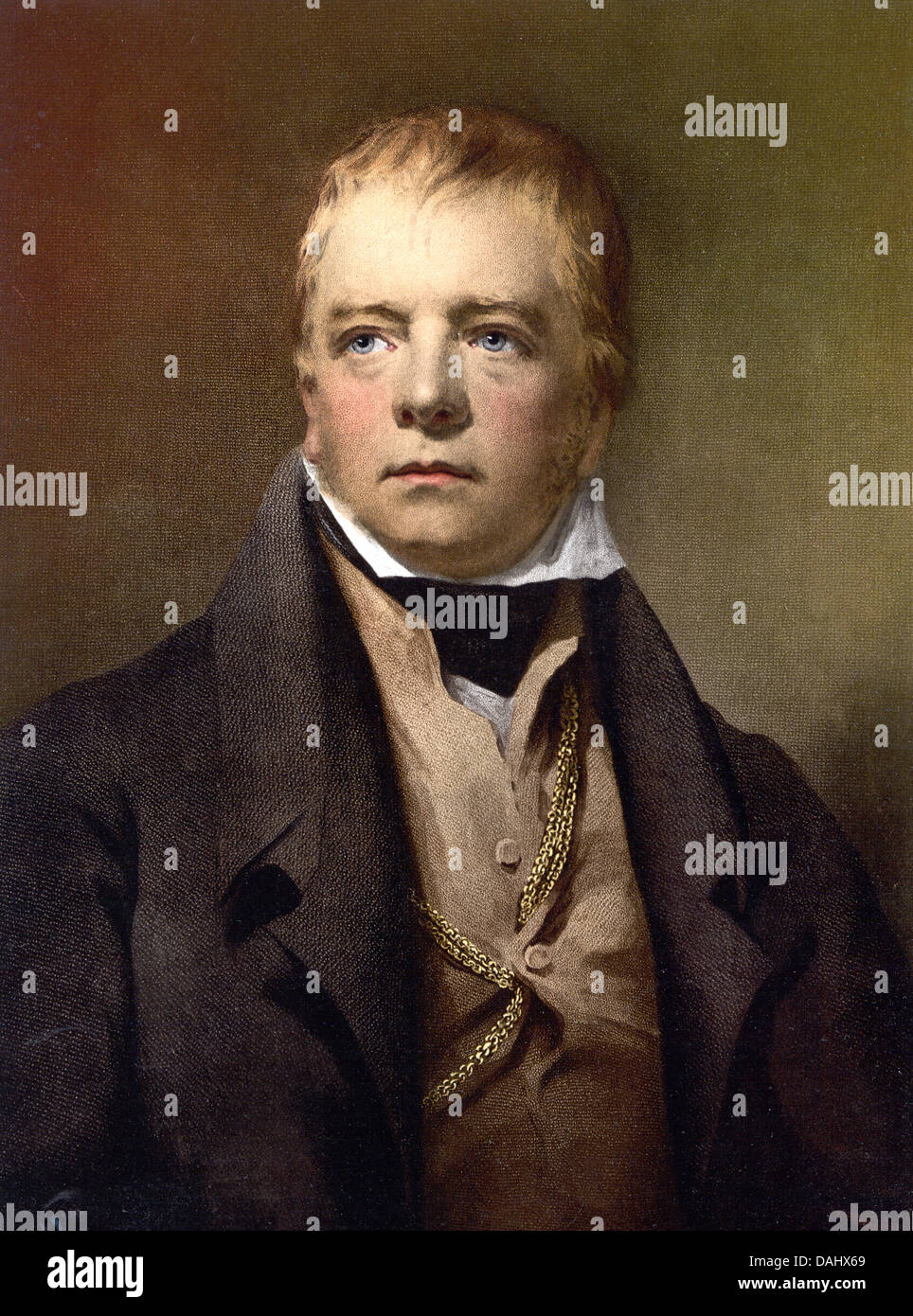 Sir Walter Scott, Scottish historical novelist, playwright, and poet - Stock Image