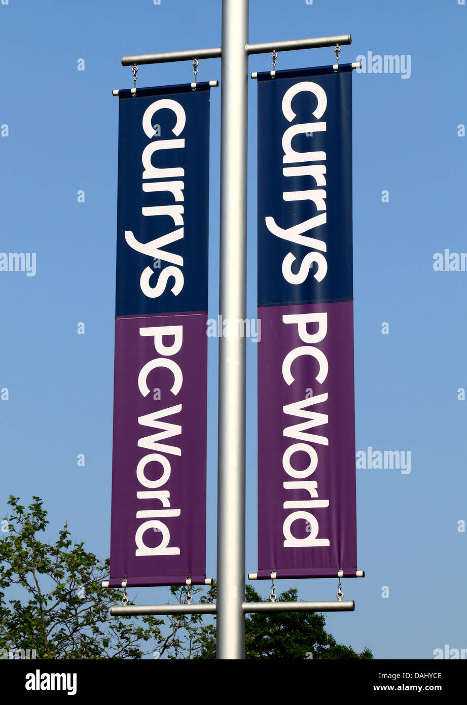 Currys PC World, banner, sign, logo, PCWorld England UK. - Stock Image