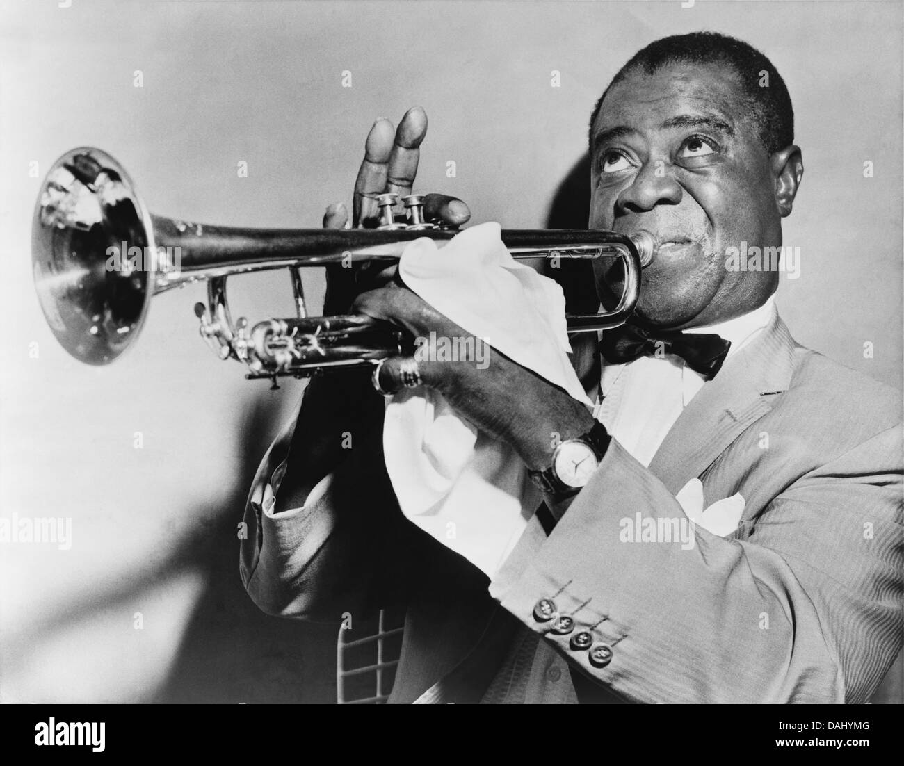 LOUIS ARMSTRONG (1901-1971) US jazz trumpet player about 1953 - Stock Image